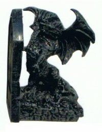 Buchstütze mit Drachen rechts