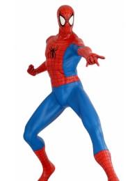 Spiderman Comic Statue mit Metallplatte - Marvel