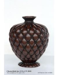 Vase Chesterfield dunkelbraun