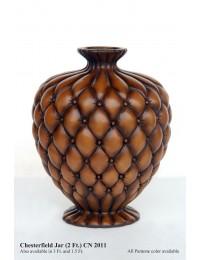 Vase Chesterfield hellbraun