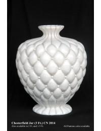 Vase Chesterfield weiß