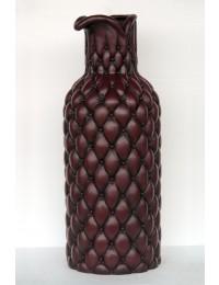 Hohe Vase Chesterfield dunkelbraun