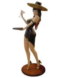 Kellnerin mit Sombrero