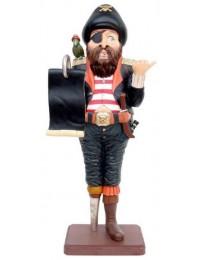Pirat mit Angebotstafel