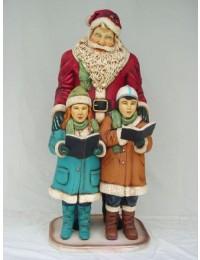 Weihnachtsmann mit 2 Kindern