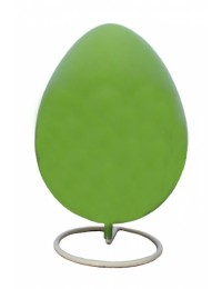 Kleines grünes Osterei auf Metallständer einfarbig lackiert!