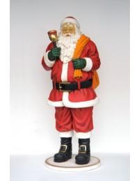 Santa Claus mit Glöckchen und Sack groß