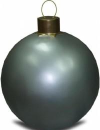 Weihnachtskugel ohne Struktur Silber