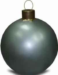 Weihnachtskugel ohne Struktur Klein Silber