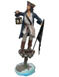 Pirat mit Flagge und Laterne