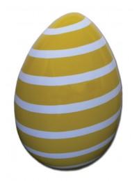 Osterei gelb weiß gestreift