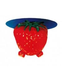 Glastisch mit Erdbeere