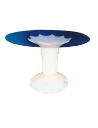 Glastisch mit Säule