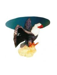 Glastisch mit Weißkopfseeadler