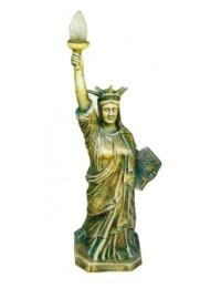 Freiheitsstatue bronze gold mit Lampe mittel