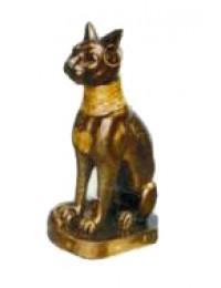 kleine ägyptische Katze sitzend