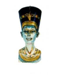 ägyptischer Frauenkopf als Büste silber
