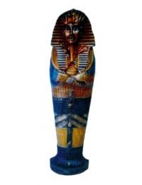 ägyptischer Sarkophag schwarz gold CD Regal