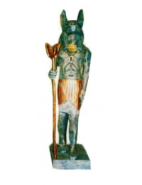 stehender Ägypter Metalloptik