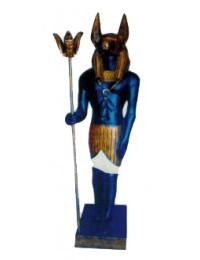 stehender ägyptischer Wächter bronze schwarz
