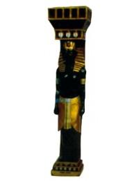 ägyptische Säule mit Ägypter als Wächter