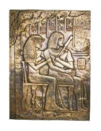 goldene Wandtafel mit Ägyptern