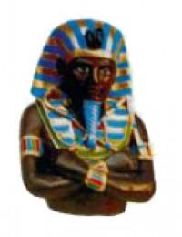 ägyptischer Pharao mit verschränkten Armen als Büste