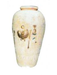 ägyptische Vase beige