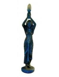 Ägypterin mit Fackellampe Steinoptik