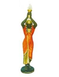 Ägypterin gold rot mit Fackellampe