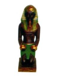 kniender Ägypter mit Opfergaben bunt