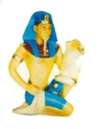 ägyptischer Schriftführer mit Papyrus