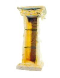 antike Säule mit 2 Glasböden Variante 1