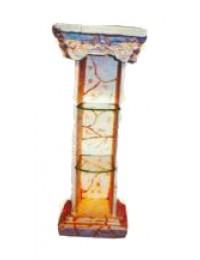 antike Säule mit 2 Glasböden Variante 2