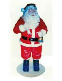 großer dicker Weihnachtsmann mit Glocke und Sack