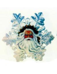 Schneeflocke mit Weihnachtsmanngesicht