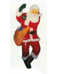 am Seil hängender Weihnachtsmann mit Sack groß