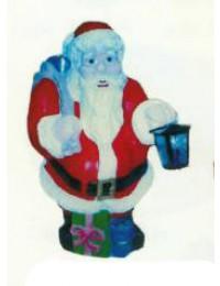 stehender Weihnachtsmann mit Laterne