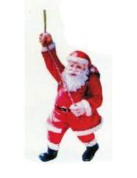 Weihnachtsmann klettert am Seil