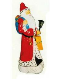 Weihnachtsmann groß mit Laterne und Geschenksack
