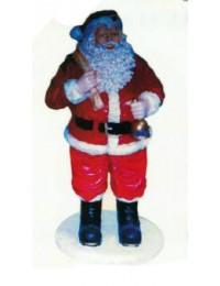 mittelgroßer Weihnachtsmann mit Glocke und Sack
