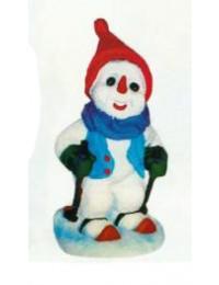 kleiner Schneemann auf Ski
