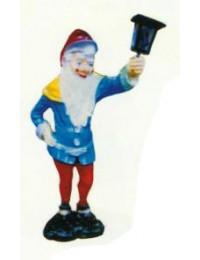 blauer Zwerg mit langem Bart und Laterne klein