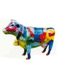 kleine bemalte Kuh mit Glocke