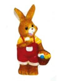 Osterhäschen klein rot gelb mit Eierkorb