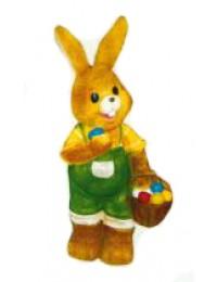 Osterhäschen klein grün gelb mit Eierkorb