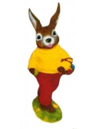 Osterhase laufend rot gelb