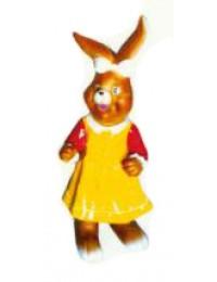 Osterhäsin klein im gelben Kleid