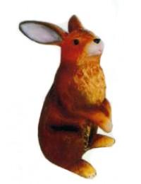brauner stehender Hase Ostern