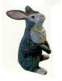grauer stehender Hase Ostern